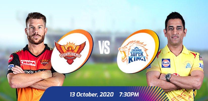 IPL 2020 SRH vs CSK Prediction
