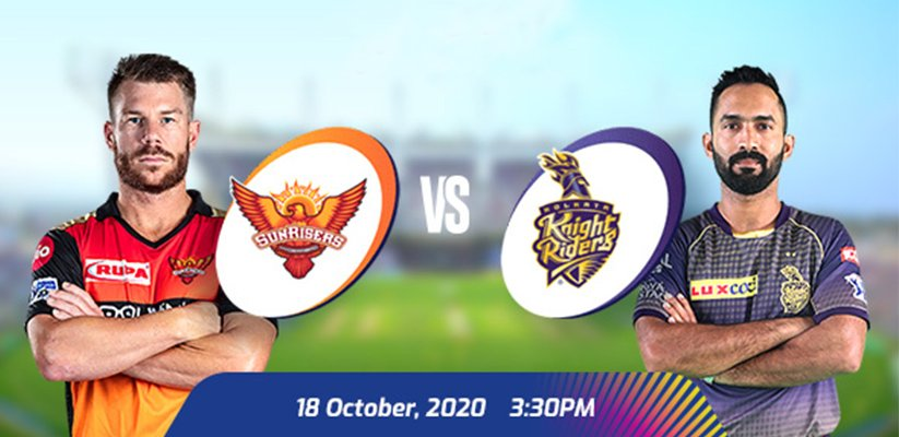 IPL 2020 SRH vs KKR Prediction