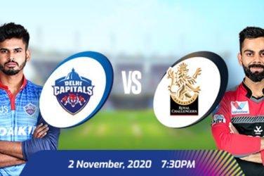 IPL 2020 DC vs RCB Prediction